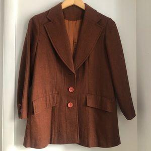 VINTAGE 70s Brown Wool Blazer